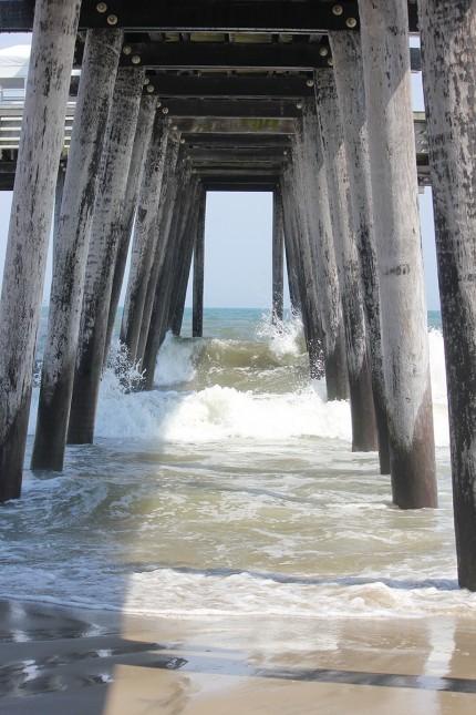 under Ocean City pier